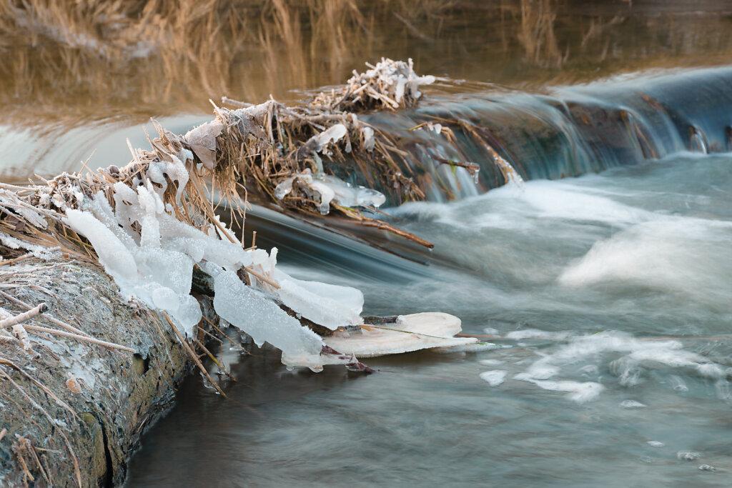Kleiner Staudamm an der Werse